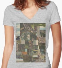 Tree Points Drop Women's Fitted V-Neck T-Shirt
