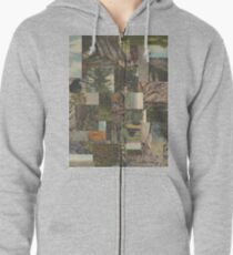 Tree Points Drop Zipped Hoodie