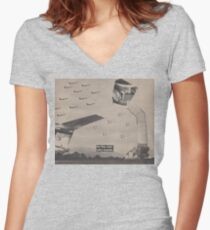 Fighter Flight Women's Fitted V-Neck T-Shirt