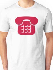 Red telephone icon Unisex T-Shirt