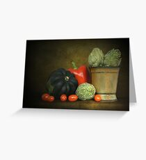 Artichokes And Pottery Greeting Card