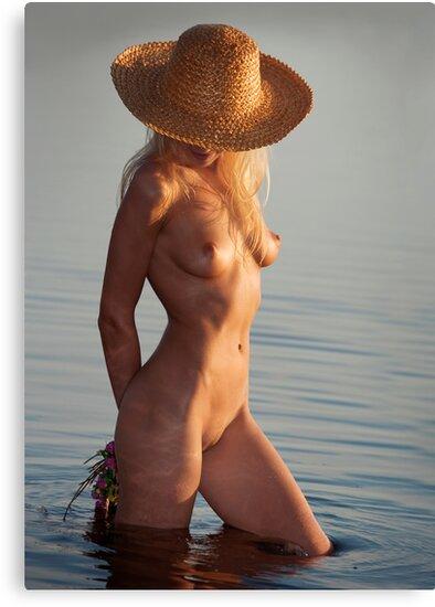 Girl with hat by Alexandr Zadiraka