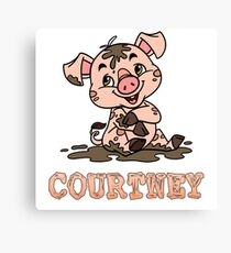 Courtney Piggy Canvas Print