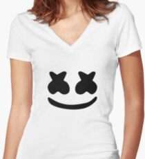 Marshmello Women's Fitted V-Neck T-Shirt