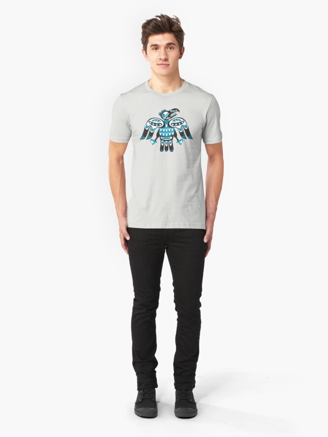 Alternate view of blue bird Slim Fit T-Shirt