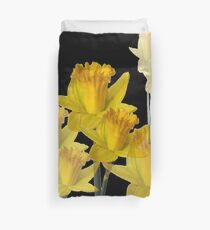 YELLOW DAFFODILS MODERN MONTAGE Duvet Cover