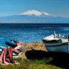 Etna  from Brucoli, Sicily by Andrea Rapisarda