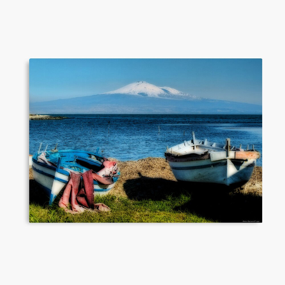 Etna  from Brucoli, Sicily Canvas Print