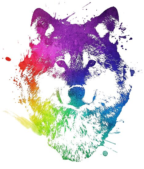 """""""Rainbow Wolf"""" Posters By TGG4evr"""