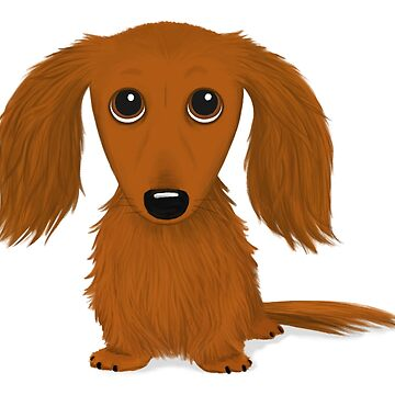 Long Haired Red Dachshund by ShortCoffee