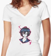 Take Your Heart Women's Fitted V-Neck T-Shirt