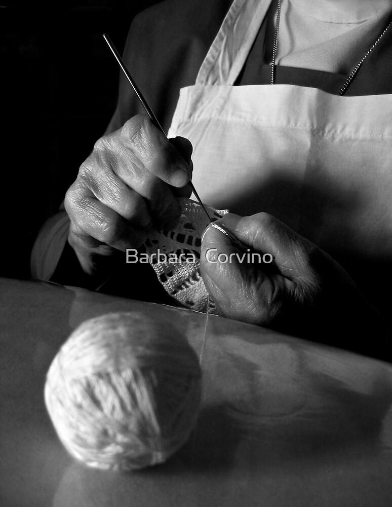 Woman's hands by Barbara  Corvino