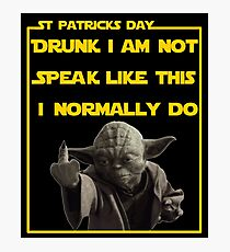 St Patricks day angry leprechaun  Photographic Print