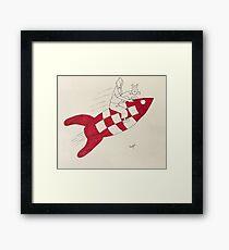 Tintin and Snowy Framed Print