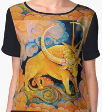 Jupiter as Brihaspati, Teacher of the Gods (my astrological series) Chiffon Top