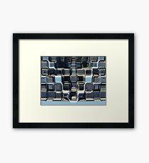 Glass Blocks Framed Print