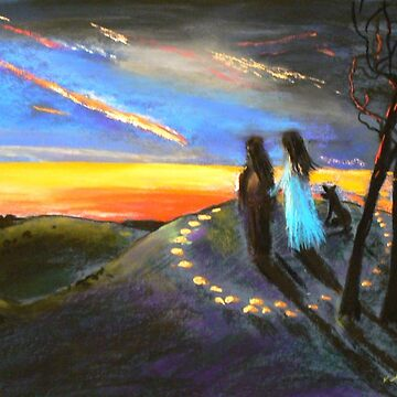 Collaboration with Redbubble Author, Enivea .....Dancing in the Dawn by ginnymac