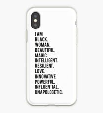 I Am Black Woman | African American | Black Lives iPhone Case