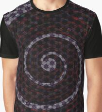 Abstract Vortex Pattern Graphic T-Shirt