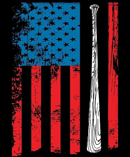 Baseball American Flag  02dc62428