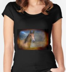 A Beautiful Horse Women's Fitted Scoop T-Shirt