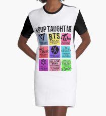 Kpop Taught Me (3rd Gen. Groups Ver.) Graphic T-Shirt Dress