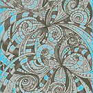 Drawing Floral Zentangle by MEDUSA GraphicART