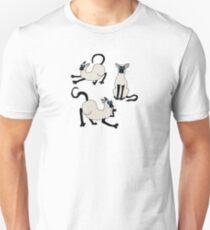 Three Siamese Cats Slim Fit T-Shirt