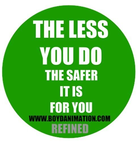 The less you do...Hardhat Sticker by boydanimation