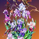 """Dragons in Irises"" by Tatyana Binovskaya"