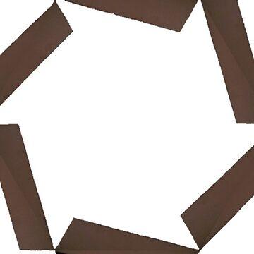 Drunken brown hexagon pattern by CimarronGlace