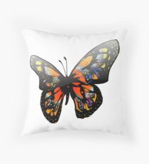 Colorful Butterfly Design Throw Pillow