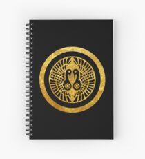 Ikko Ikki Mon Japanese clan in faux gold Spiral Notebook