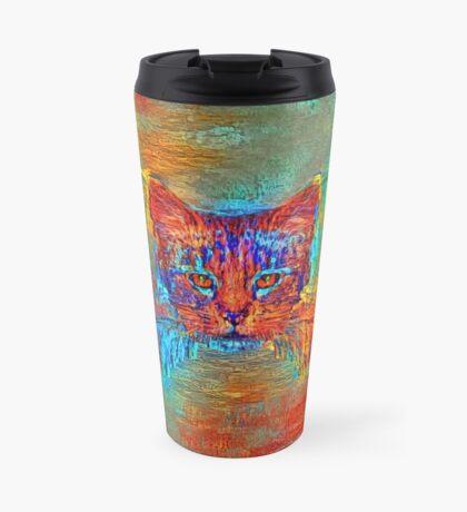 Ninja cat hiding in Modern #Art Travel Mug