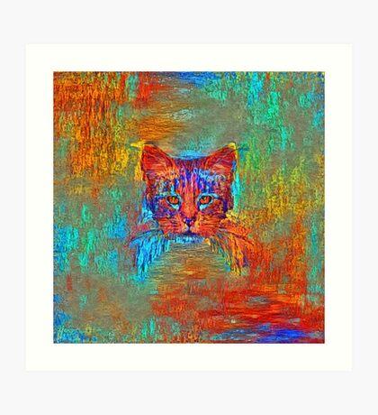 Ninja cat hiding in Modern #Art Art Print