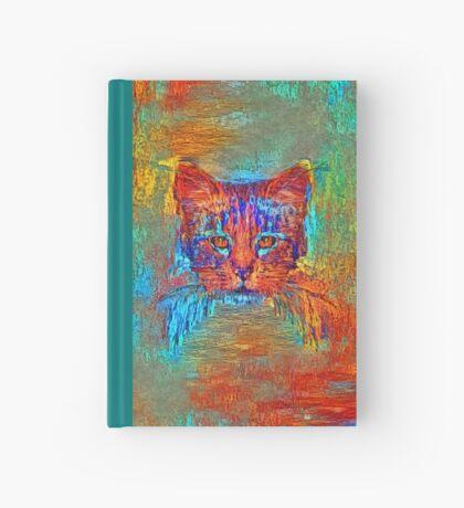 Ninja cat hiding in Modern #Art Hardcover Journal