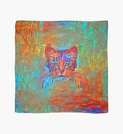 Ninja cat hiding in Modern #Art Scarf