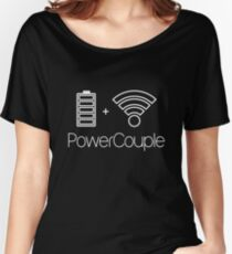 Power Couple - Battery and Wifi Women's Relaxed Fit T-Shirt