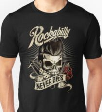 Rockabilly Never Dies Slim Fit T-Shirt