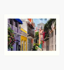 Colorful Streets of Old San Juan, Puerto Rico Art Print