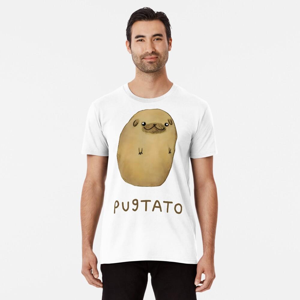 Camiseta premium para hombrePugtato Delante