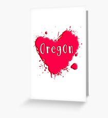 Oregon Splash Heart Oregon Greeting Card