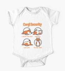 Corgi Security - Funny Design Art for Dog Lovers Pets Humor T-Shirt One Piece - Short Sleeve