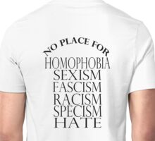 NO PLACE FOR HATERS Unisex T-Shirt