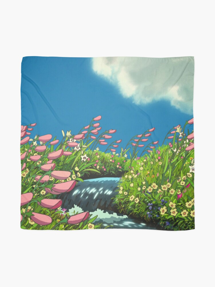Alternate view of Ghibli Landscape (Howl's moving castle) Scarf