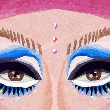 Trixie Mattel Eyes by RikDrawsThings
