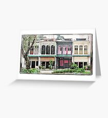 Peranakan houses digital Greeting Card