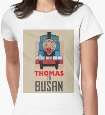 Thomas to Busan Women's Fitted T-Shirt