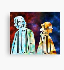 """You're Not Alone."" Rey - Kylo Ren Canvas Print"