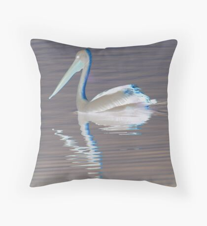 Gliding Pelican-(Inveted) Throw Pillow